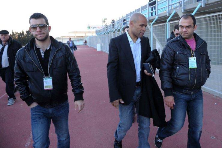 Andreas (à esquerda) e ao centro o observador do Real Madrid, que fazia parte da comissão técnica de José Mourinho.
