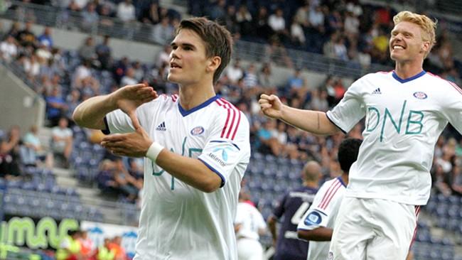 Kjartansson brilhou no empate de cinco gols. (Foto: Valerenga)