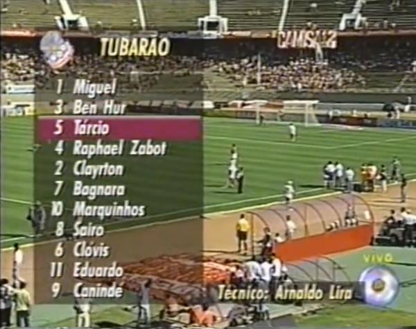 Escalação da equipe para o jogo contra o Inter, pela 7ª rodada. Abaixo há um vídeo com um compacto da partida (Reprodução)