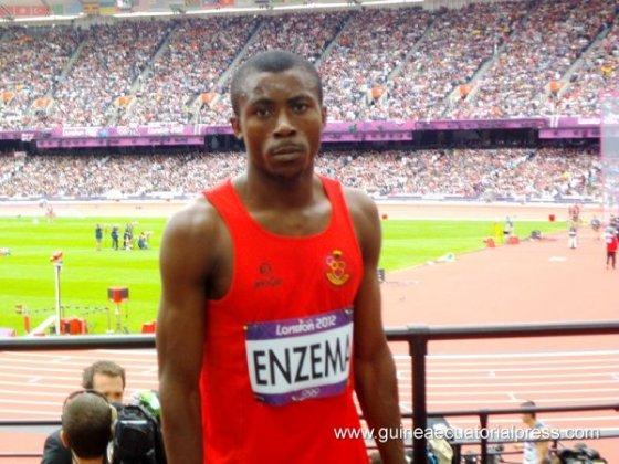 Enzema participando em Londres 2012 (Foto: Divulgação/Guinea Equatorial Press)