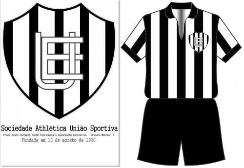 Escudo e uniforme da Sportiva (Arte: Equipe História do Futebol)
