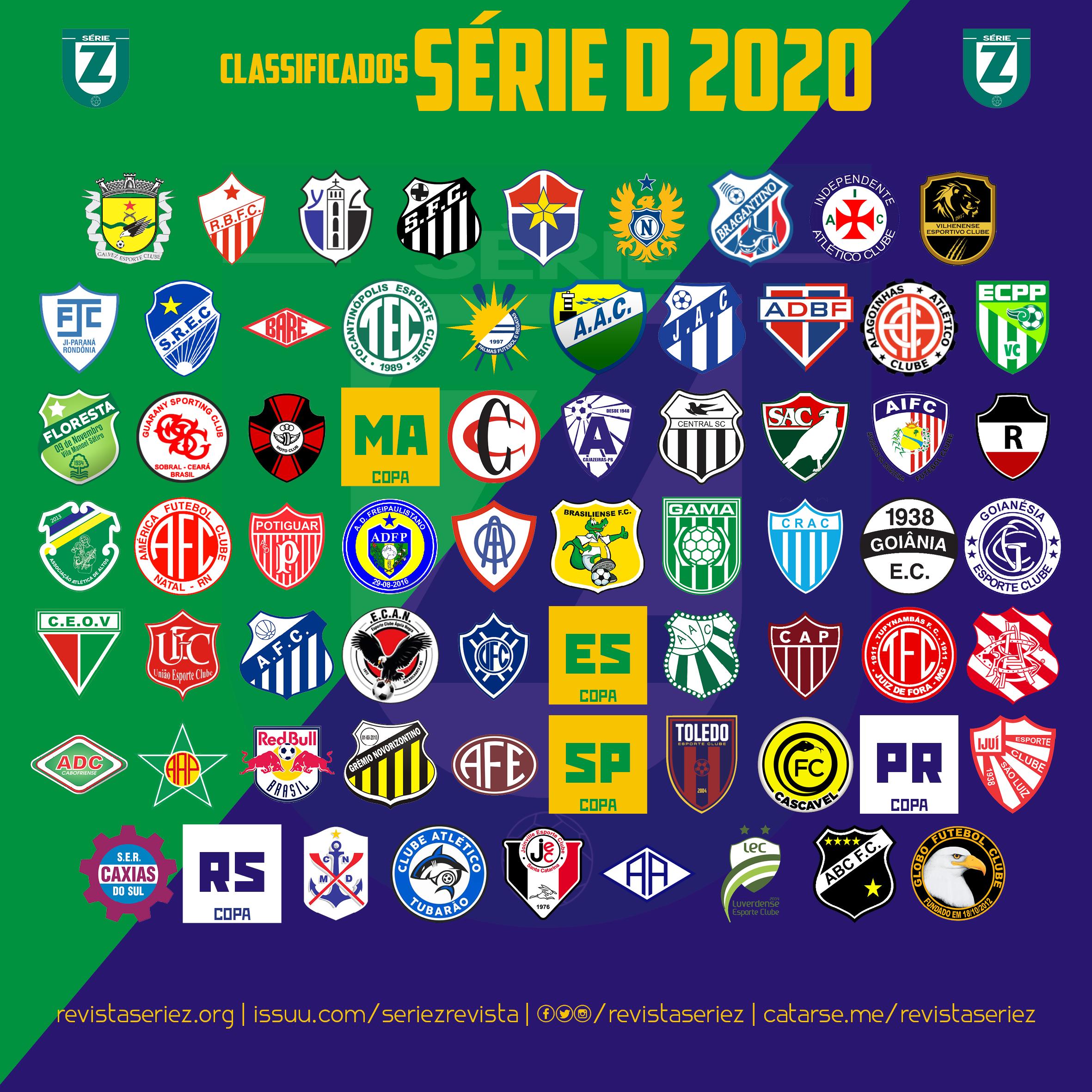 A linha do tempo de classificação à Série D 2020 – Revista